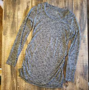 Liz Lange- Side Ruched Marled Sweater